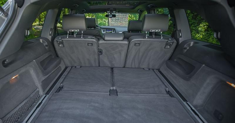 Zdjęcie pojemności bagażnika wynajmowanego Audi Q7
