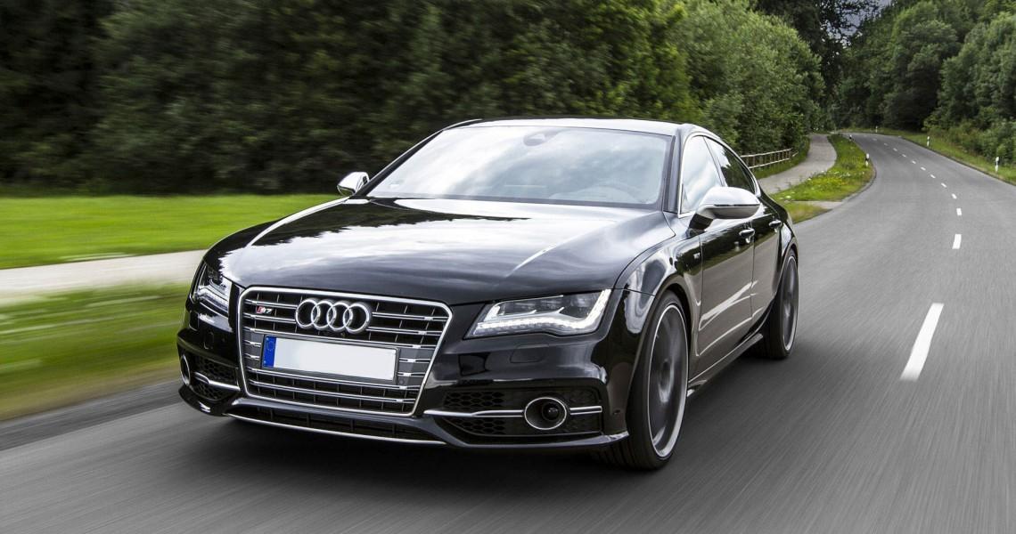 Wynajem Audi S7 - prawy przód