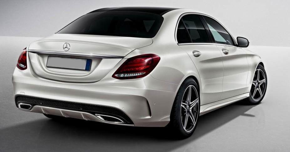 Prawy tył Mercedesa klasy C