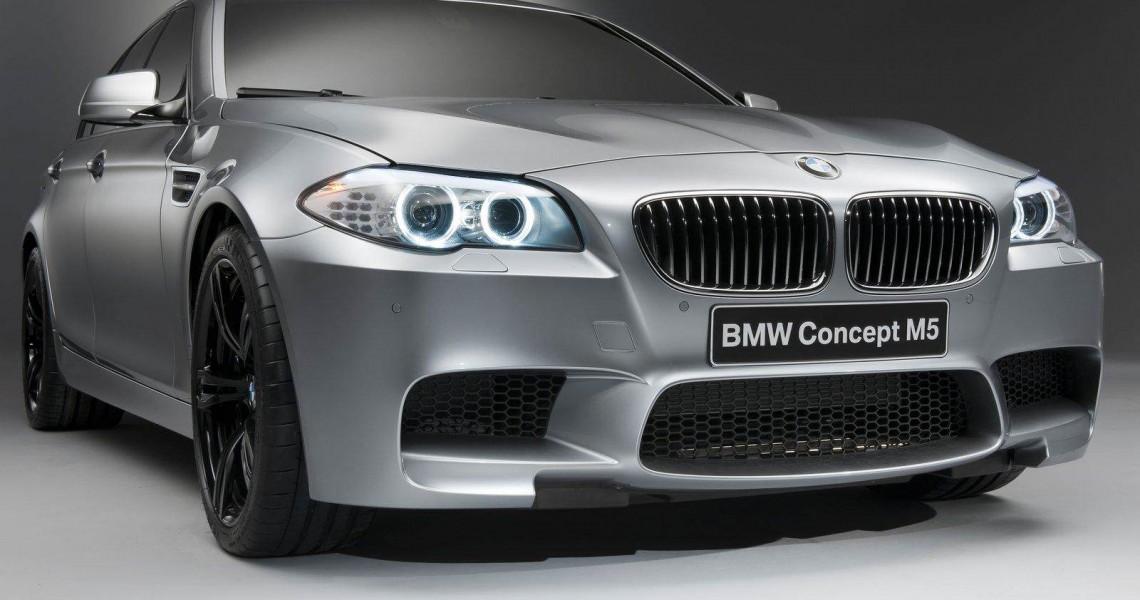 Prawy przód BMW M5 - możliwy wynajem w Warszawie