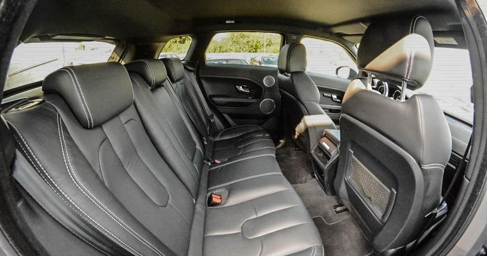 Tylne siedzenia Range Rover Evoque